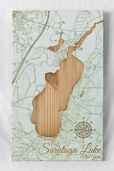 """Schmedium""-sized Saratoga Lake map in ""Seaglass"""