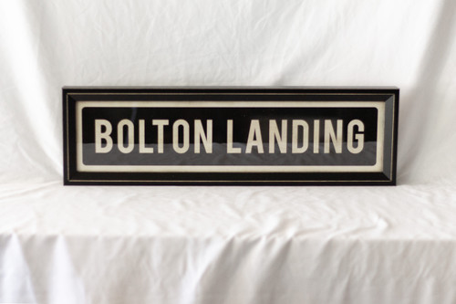 Bolton Landing Street Sign