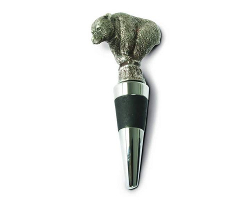 Pewter Bear Bottle Stopper