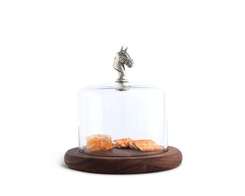 Horse Glass Covered Cheese Wood Board