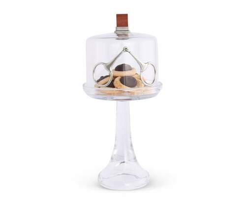 Horse Bit Glass Covered Cake / Dessert Stand