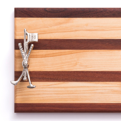 Golf Club and Flagstick Serving Board