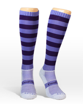 Coolhorsesocks | Horse riding competition socks | Purple competition socks