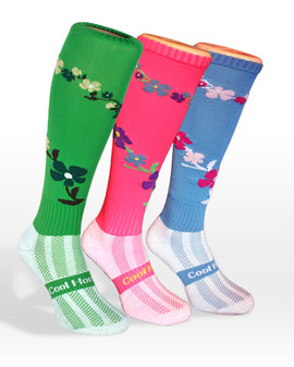 Coolhorsesocks Horse riding sock | flower socks | multi colour ways
