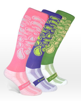 Coolhorsesocks | Riding Socks | Group of Paisley Pattern in Pink, Green, Purple