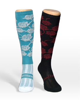Coolhorsesocks | Horse riding socks | Rose socks | mix