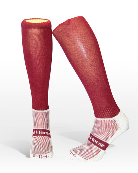 Cool horse socks | Competition socks | riding socks | in maroon