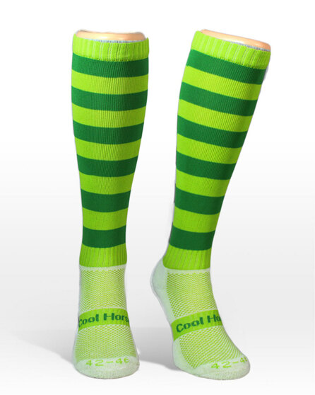 Coolhorsesocks | Horse riding competition socks | Green