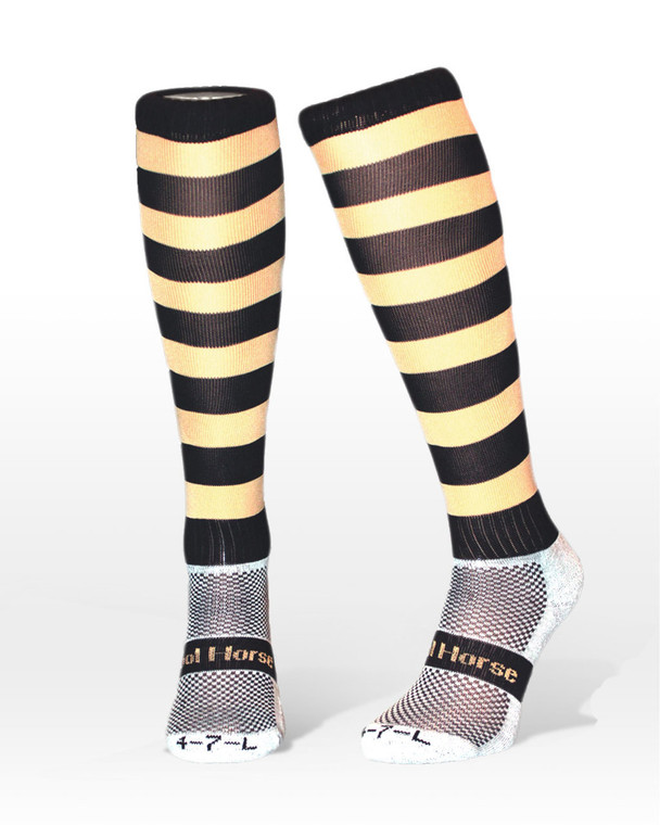 Cool horse riding socks| competition socks | stripped brown socks