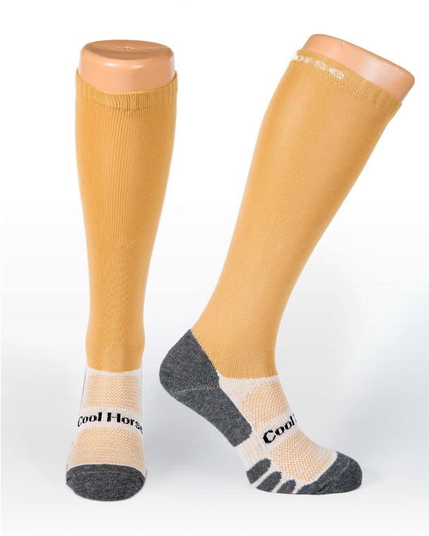 Champagne Cool horse socks competition riding socks
