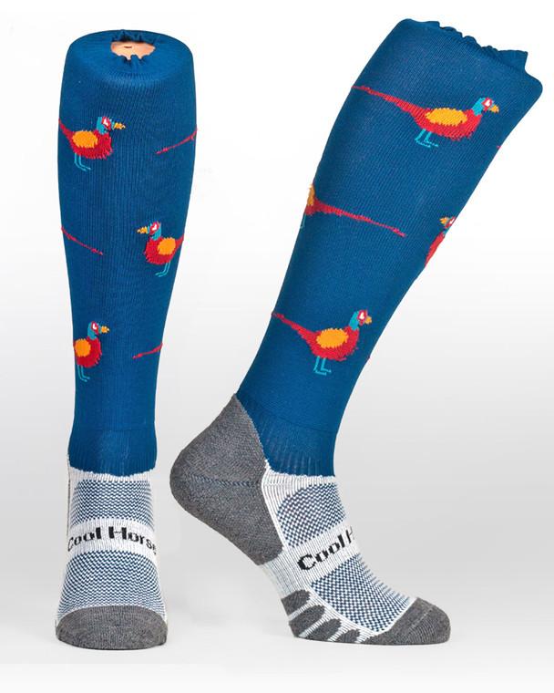 Pleasant Pheasant | Horse riding socks Cool Horse Socks