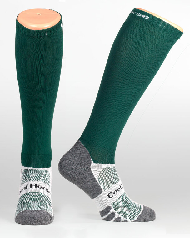 Hunter Green competition riding socks