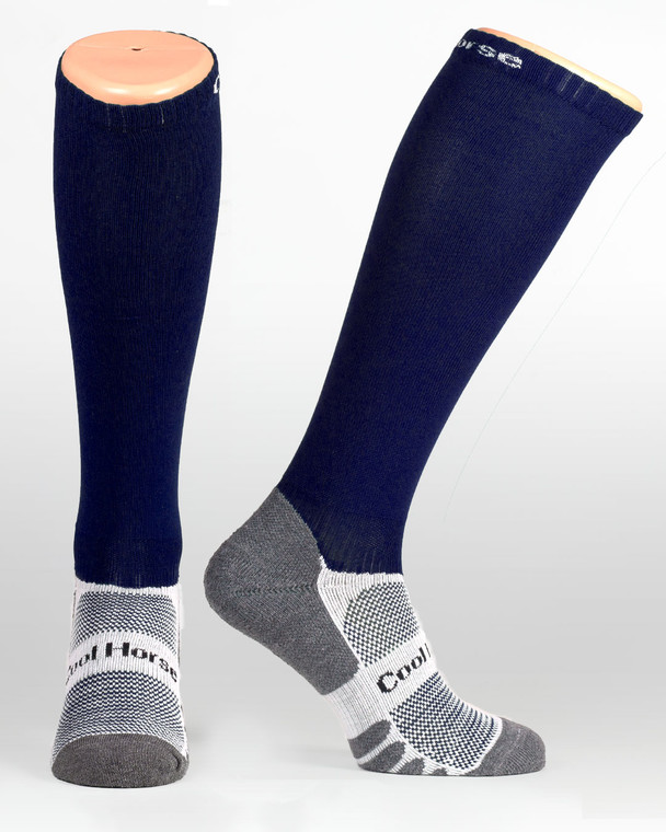 Navy competition riding socks