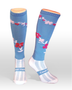 Coolhorsesocks Horse riding sock | flower socks | Blue