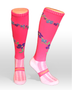 Coolhorsesocks Horse riding sock | flower socks | pink