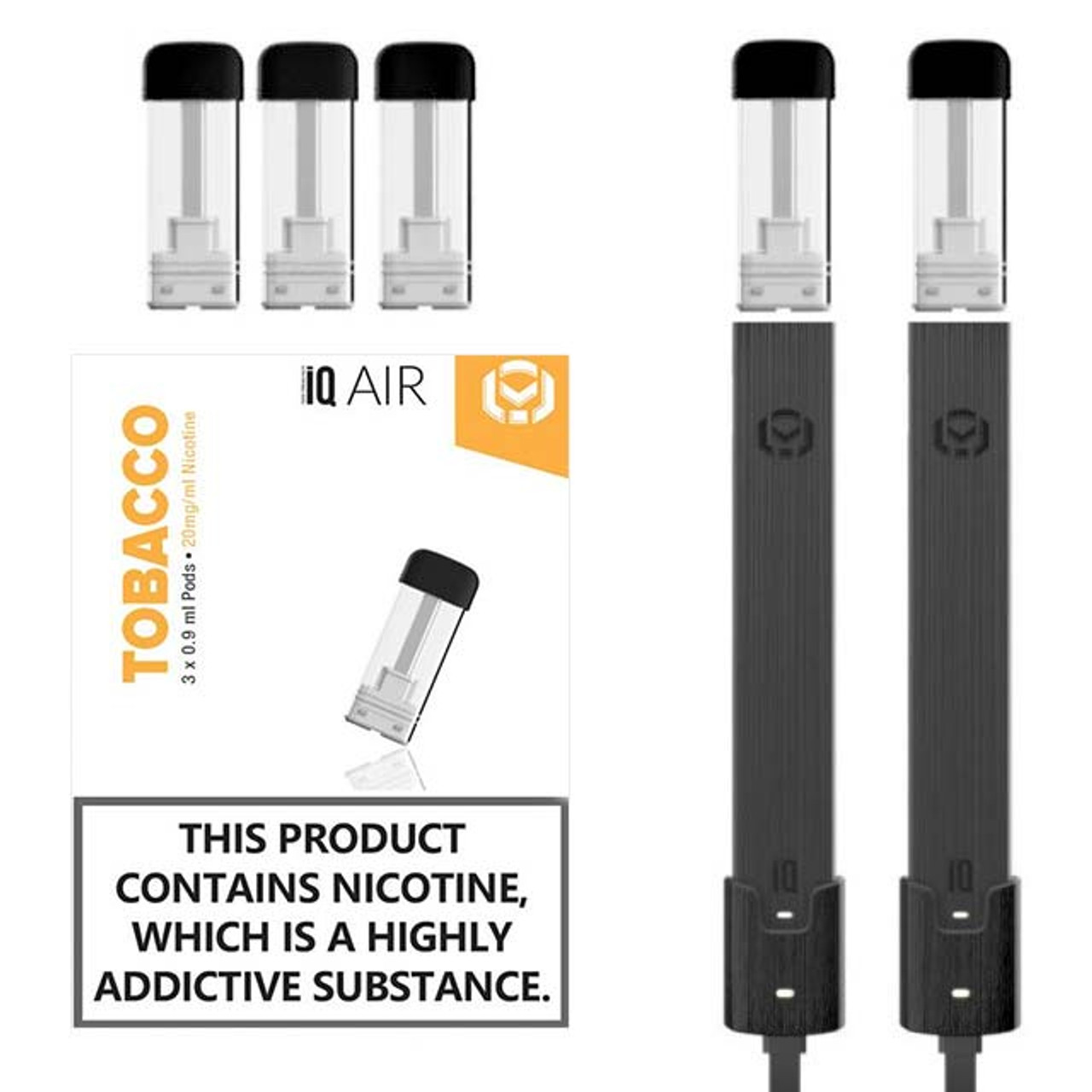 IQ Air Vapes Kit with Nic Salt Pods