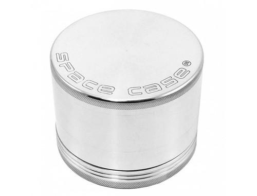 Space Case Grinder Titanium Magnetic 4 Piece Silver Large