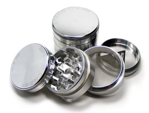 Space Case Magnetic Grinder 4 Piece Silver - Medium