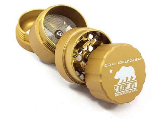Cali Crusher Homegrown 4 Piece Grinder Gold