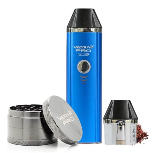 PRO 7 electronic Tobacco Vape Kit + Dry Herb Tobacco Grinder. Heat Not Burn