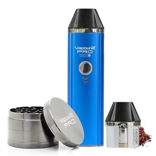 PRO 7 electronic Tobacco Vape Kit + Dry Herb Tobacco Grinder. Heat Not Burn