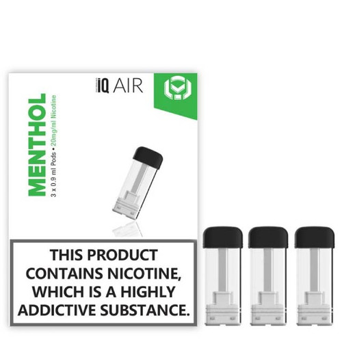 iQ Air Nic salt pods Menthol flavour