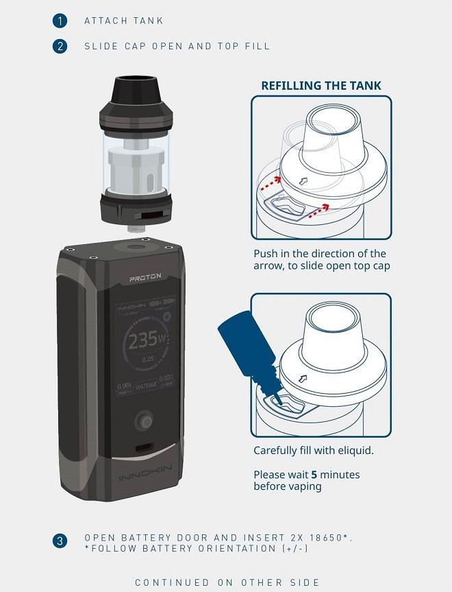 Innokin proton e-liquid refill guide