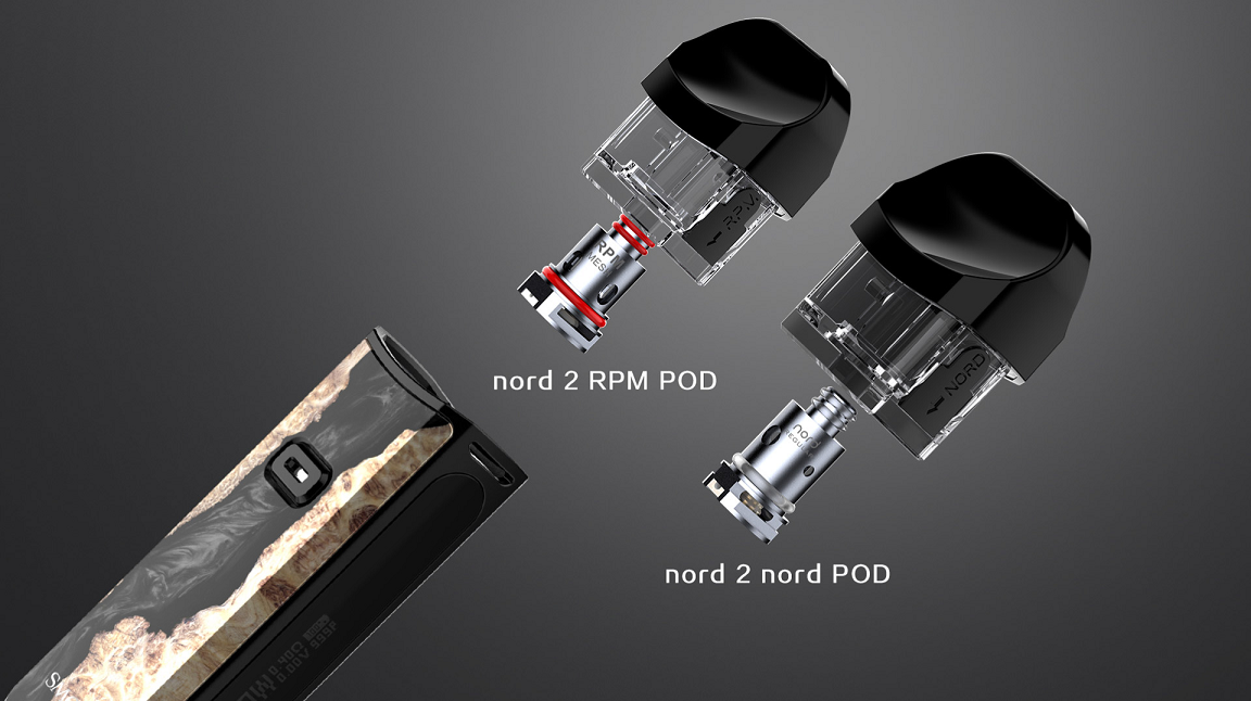smok nord 2 two pods options