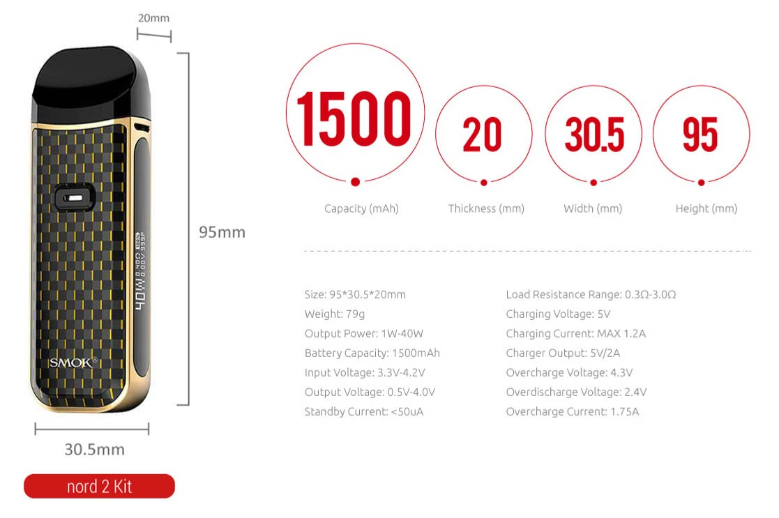 smok nord 2 specifications
