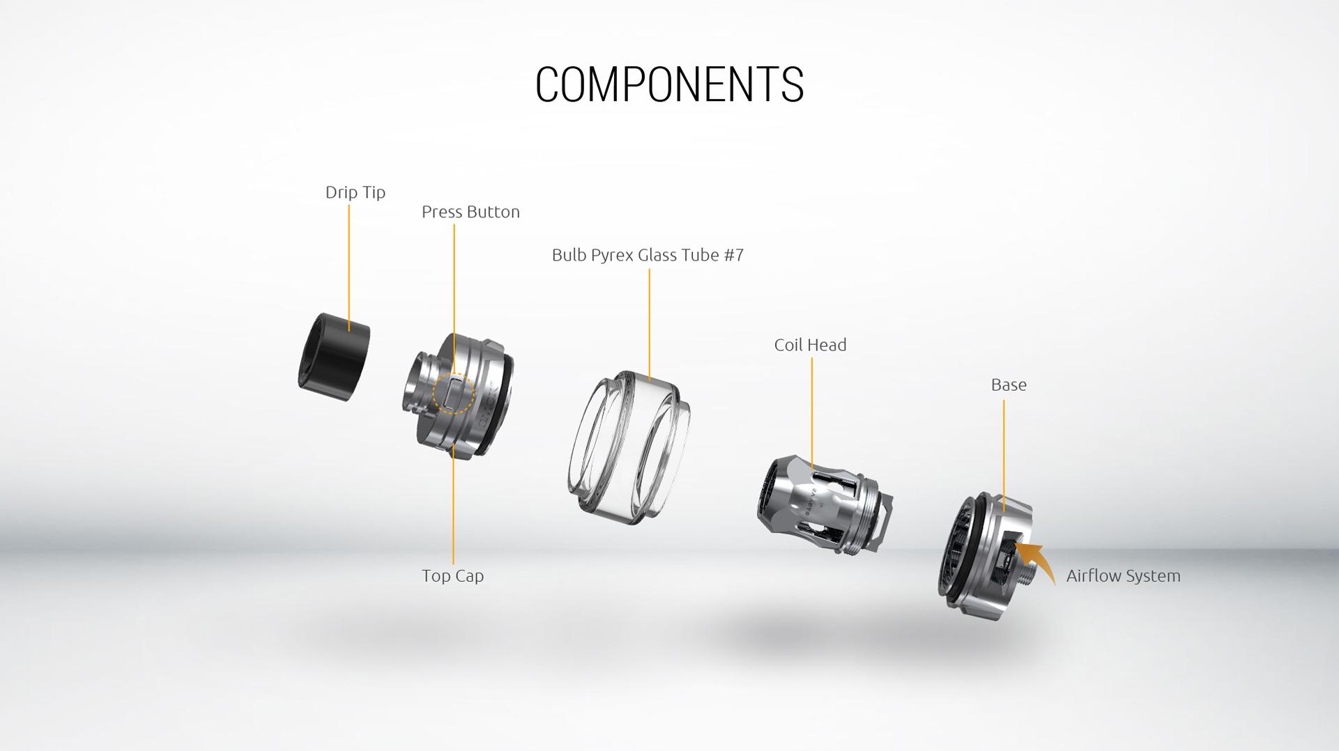 smok tfv mini v2 tank components