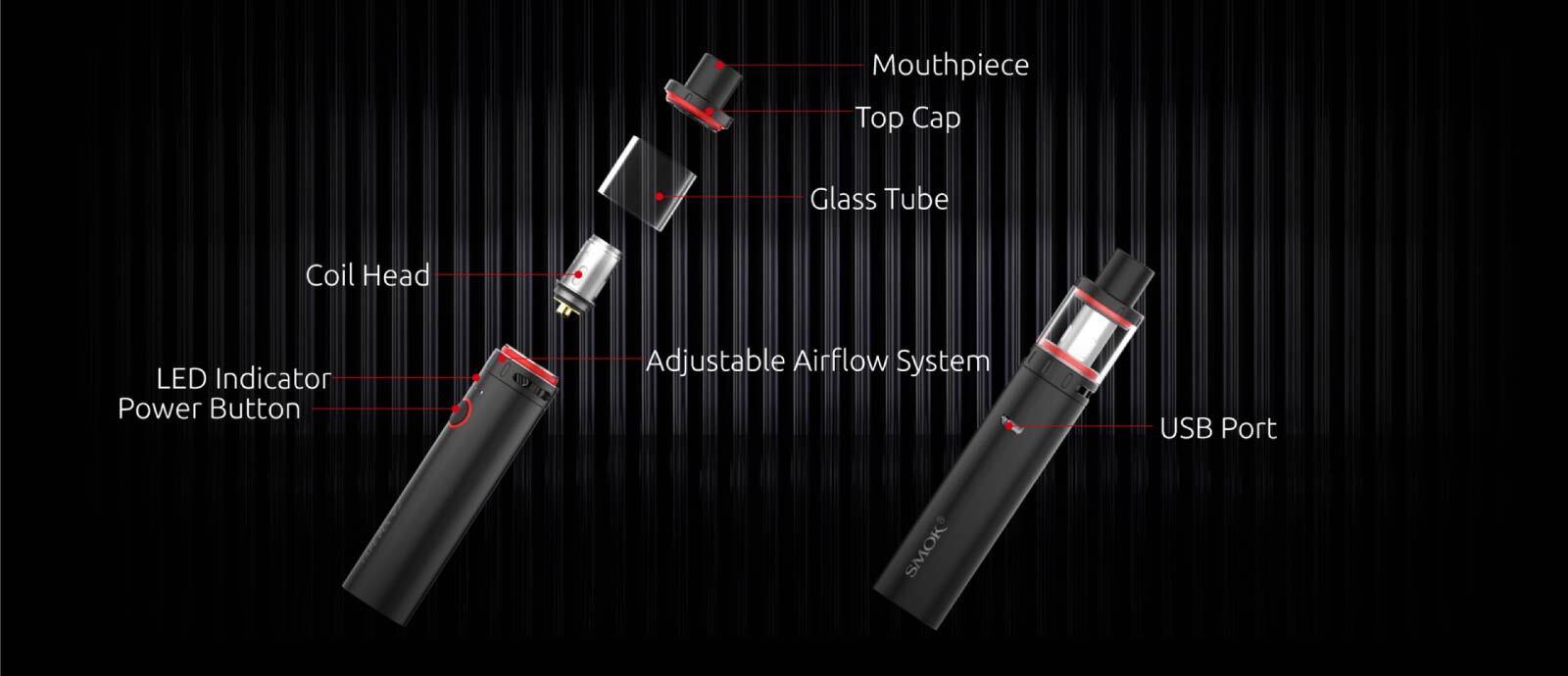 Smok Vape Pen V2 Kit Components