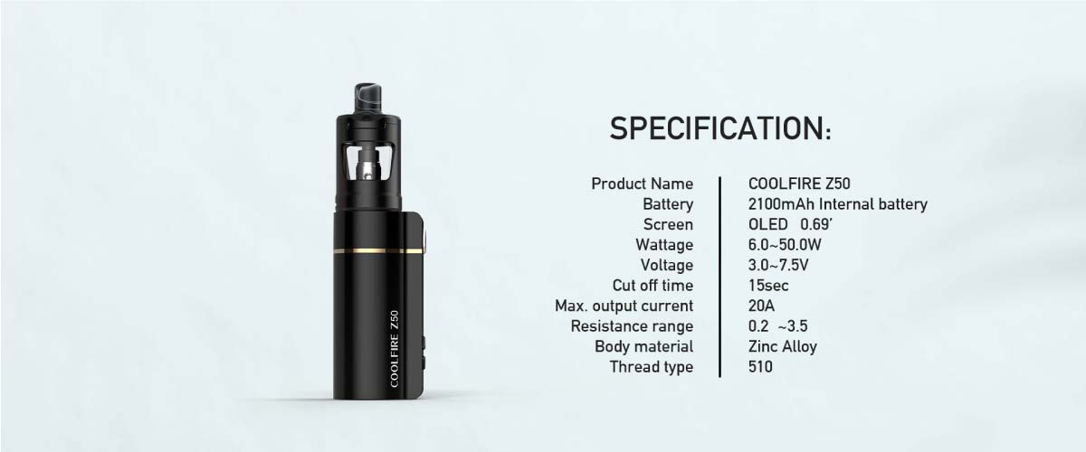 Innokin CoolFire Z50 Specifications