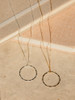 Veronica & Harold Claire Hammered Hoop Necklace
