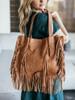 Cut N Paste Ivy Fringe Tote Bag
