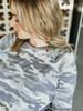 PJ Salvage Rainbow Stitch Cool Camo Long Sleeve Top