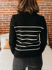 Lilla P Lightweight Long Sleeve Striped Crewneck Sweater