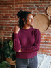 525 America Cable Knit Sweater with Puff Sleeves