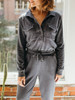 525 America French Terry Distressed Utility Jumpsuit