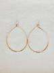 Veronica & Harold Jessica Teardrop Hoop Earrings