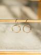 Veronica & Harold Claire Hammered Hoop Earrings