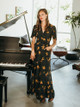 Bel Kazan La Vie En Rose Maxi Dress with Pockets