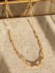 Jonesy Wood Hunter Paperclip Chain Necklace