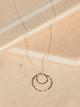 Veronica & Harold Katherine Double Hoop Necklace