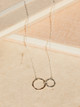 Veronica & Harold Samantha Double Ring Necklace