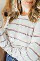 PJ Salvage Kindness Rules Rainbow Long Sleeve Top