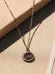 Pyrrha Heart Print Talisman Necklace