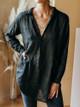 CP Shades Teton Oversize Linen Shirt Dress with Pockets