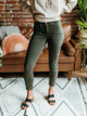 OAT NY Mid Rise Cropped Carpenter Skinny Jeans