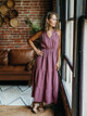 Self Contrast Malibu Sleeveless Spaghetti Maxi Dress