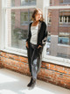525 America Soft Ribbed Duster Cardigan Sweater